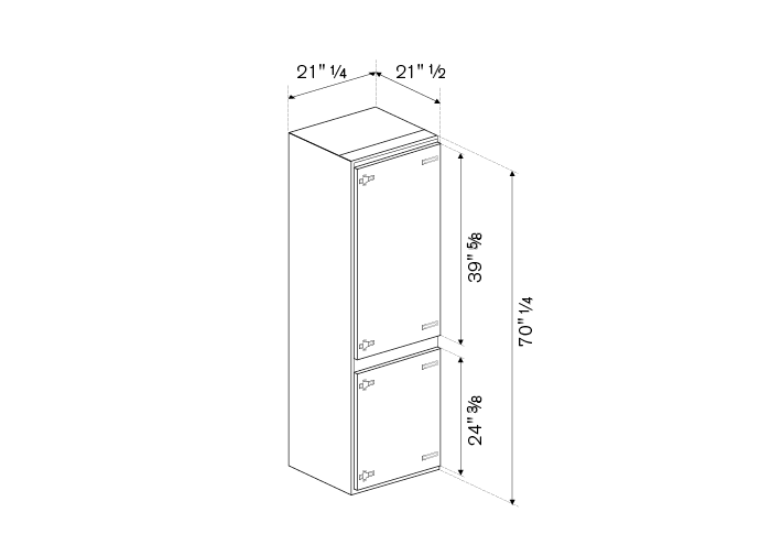 24 Refrigerator bottom mount integrated panel ready | Bertazzoni