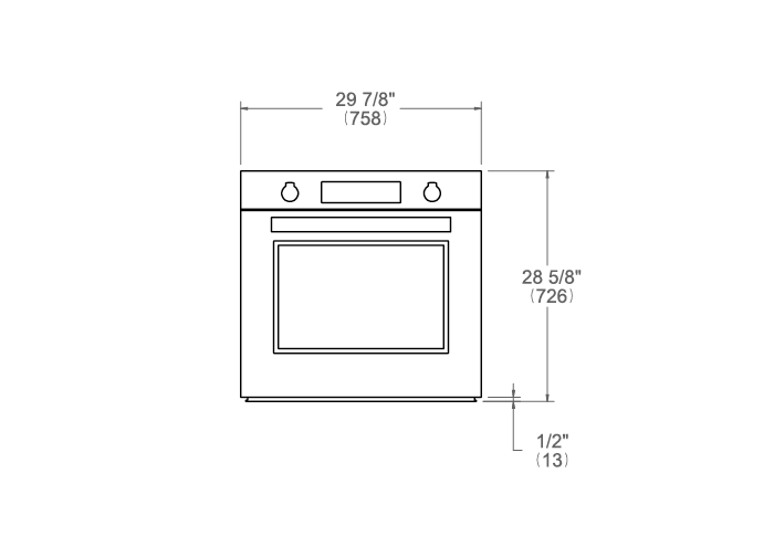30 Electric Convection Oven Self-Clean | Bertazzoni