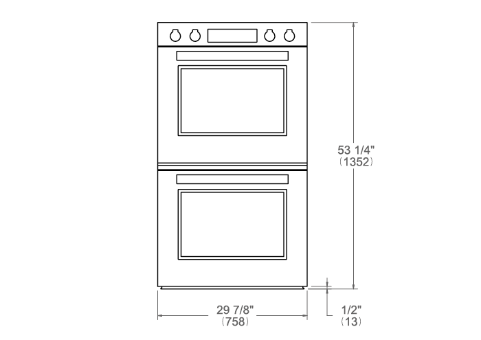 30 Double Electric Convection Oven Self-Clean with Assistant | Bertazzoni