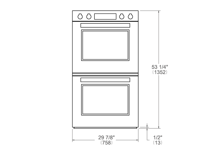 30 Double Electric Convection Oven Self-Clean | Bertazzoni
