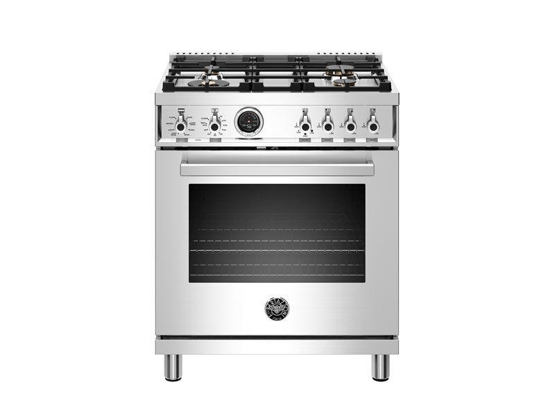 30 inch 4-Burner, Electric Self-Clean Oven | Bertazzoni - Stainless