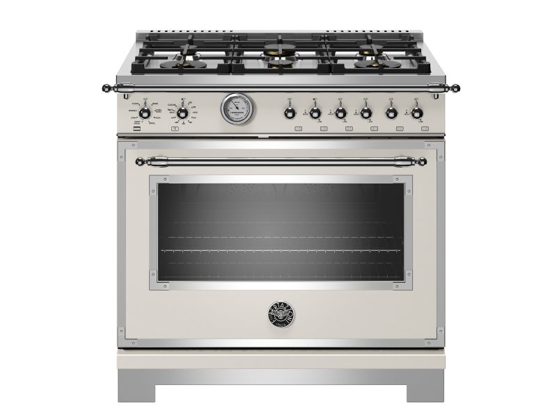 36 inch All Gas Range, 6 Brass Burners | Bertazzoni - Avorio