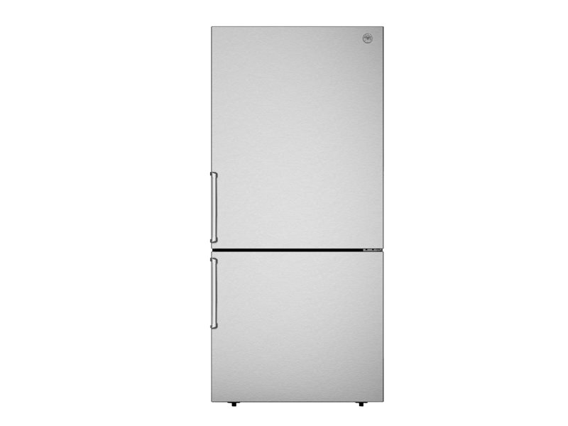 31 inch Freestanding Bottom Mount Refrigerator | Bertazzoni - Stainless Steel