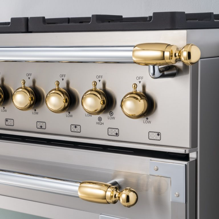 Gold décor set for Range and Hood | Bertazzoni - Gold
