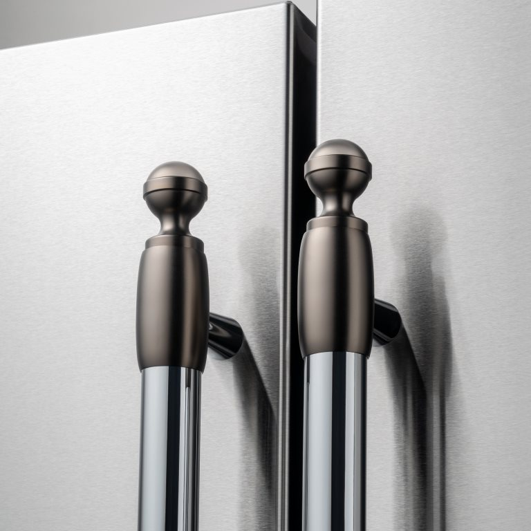 Black Nickel décor set for Refrigerator and Dishwasher | Bertazzoni - Black Nickel
