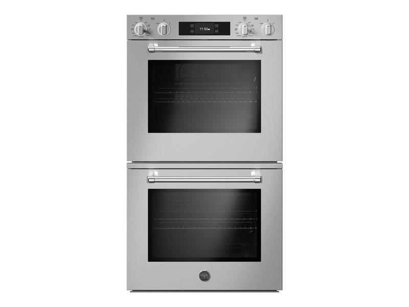 30 Double Electric Convection Oven Self-Clean with Assistant | Bertazzoni - Stainless Steel
