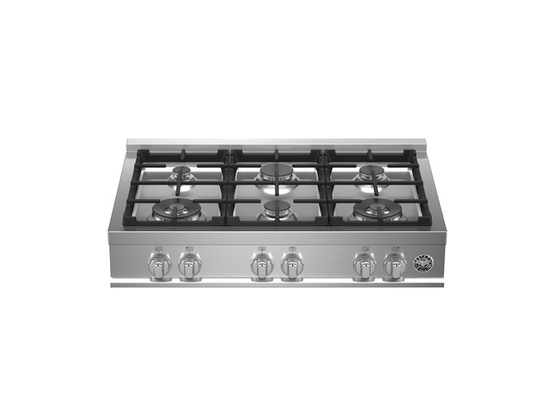 36 Gas Rangetop 6 burners | Bertazzoni - Stainless Steel