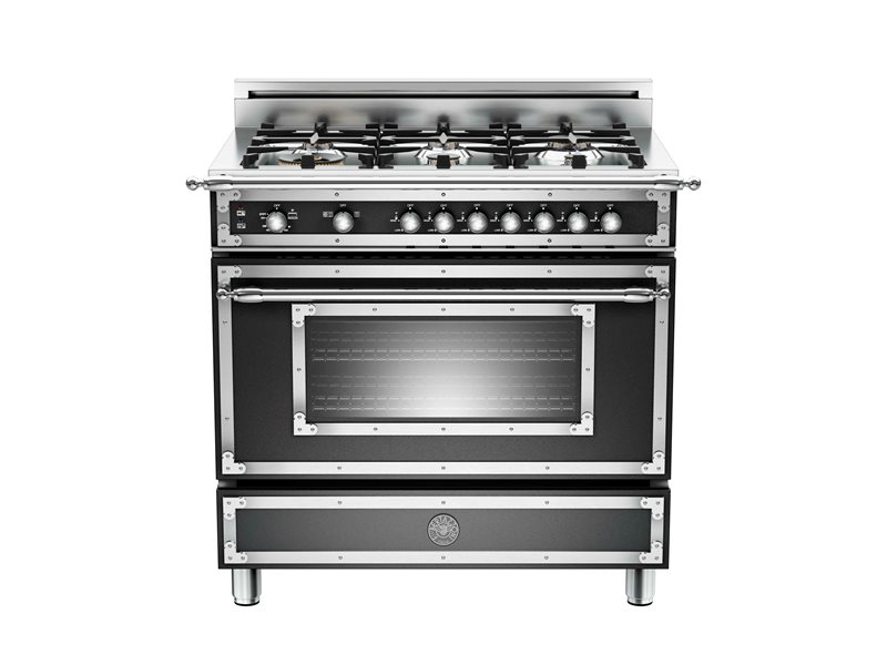 36 6-Burner, Gas Oven | Bertazzoni - Matt Black