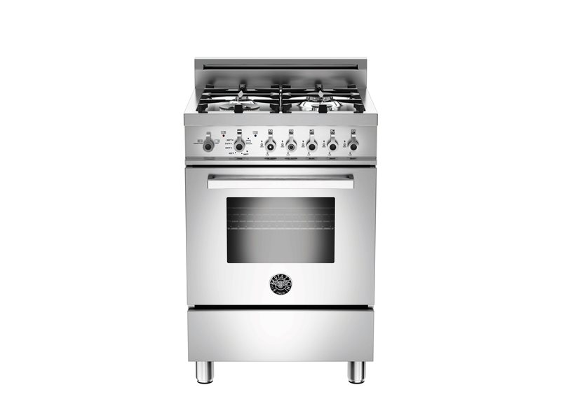 24 inch All Gas Range, 4 Burners | Bertazzoni - Stainless