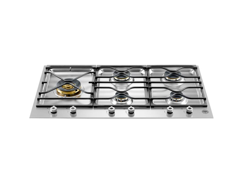36 Segmented cooktop 5-burner | Bertazzoni - Stainless Steel
