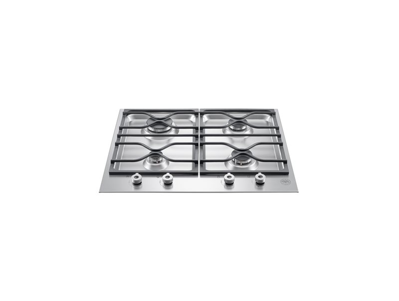 24 Segmented cooktop 4-burner | Bertazzoni - Stainless Steel