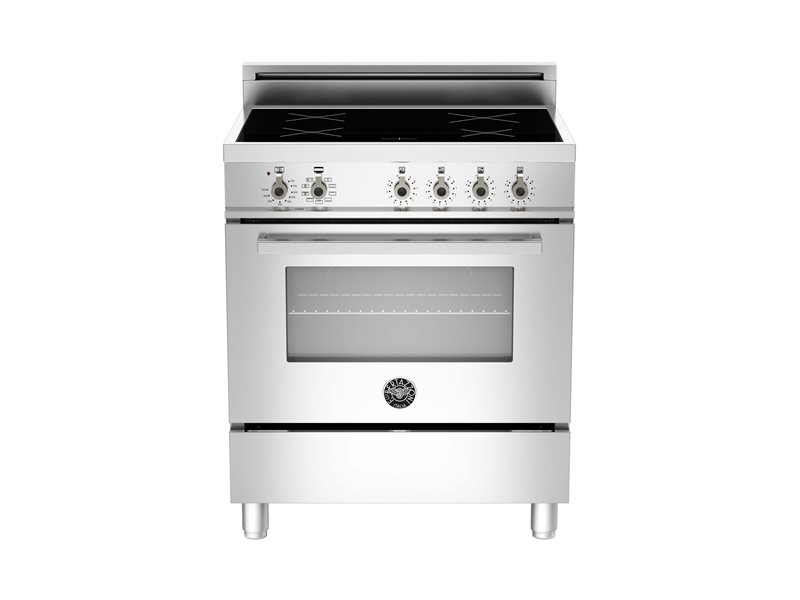 30 4-Induction Zones, Electric Convection Oven | Bertazzoni - Stainless