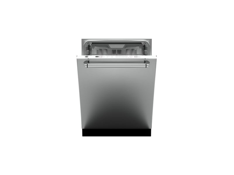 24 Panel Installed Dishwasher 16 settings 45dB | Bertazzoni - Stainless Steel