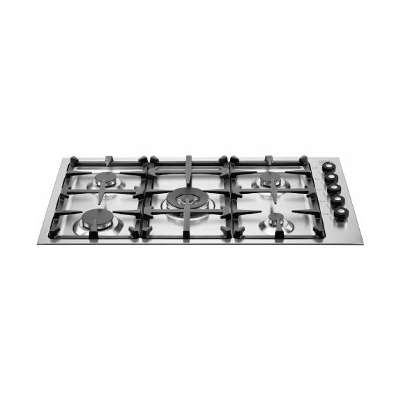 36 Drop-in low edge cooktop 5-burner | Bertazzoni - Stainless Steel