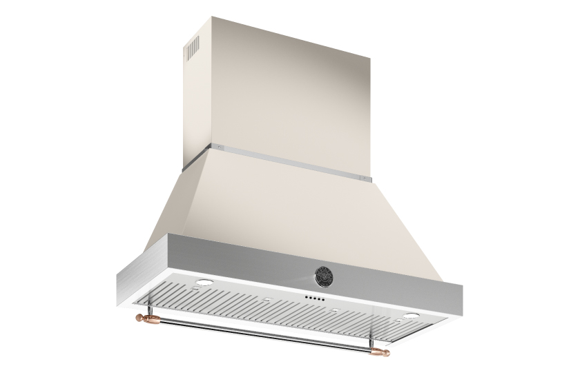 48 inch All Gas Range, 6 Brass Burner and Griddle | Bertazzoni - Avorio - Copper