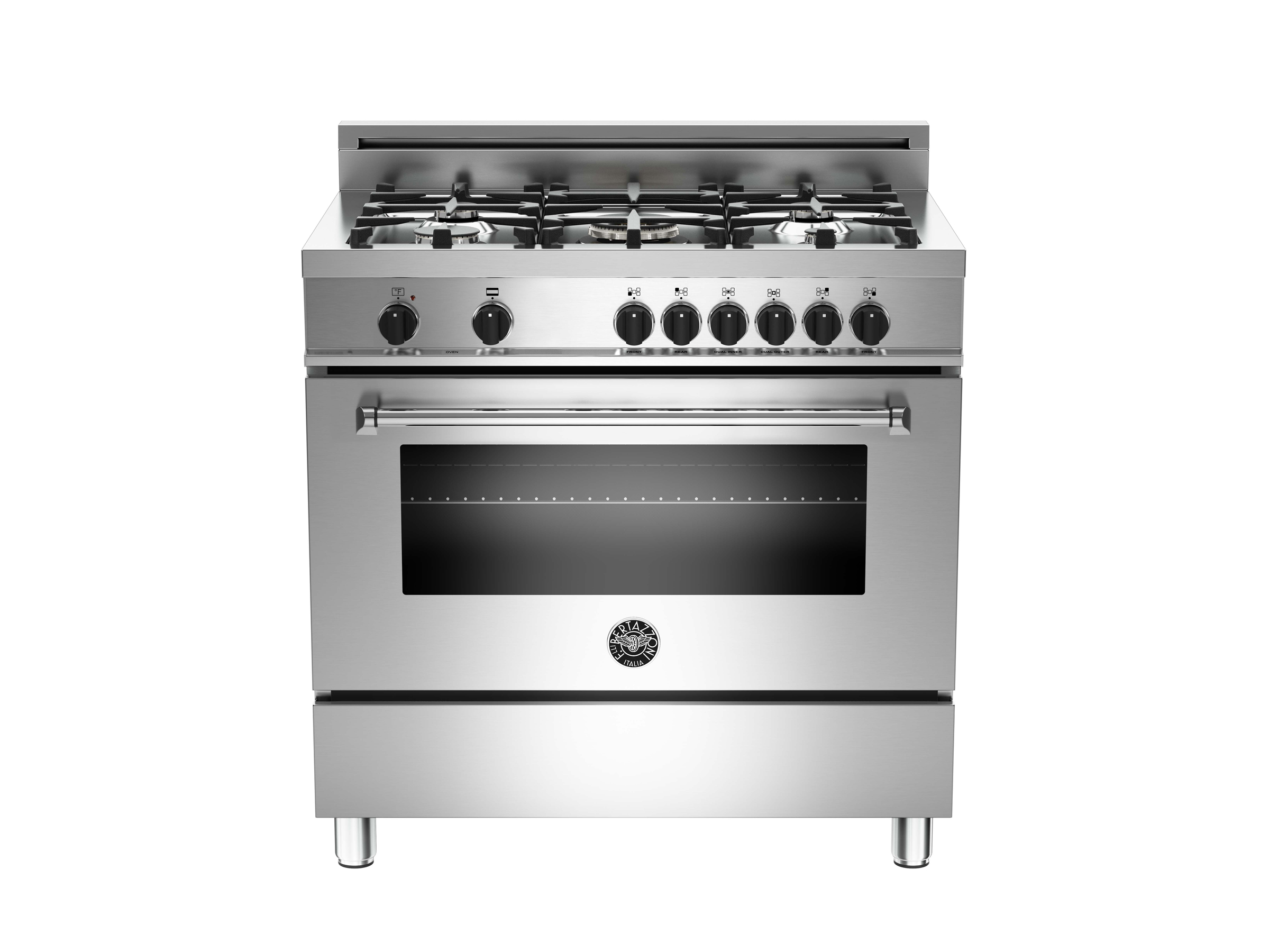 36 5-Burner, Electric Oven | Bertazzoni - Stainless