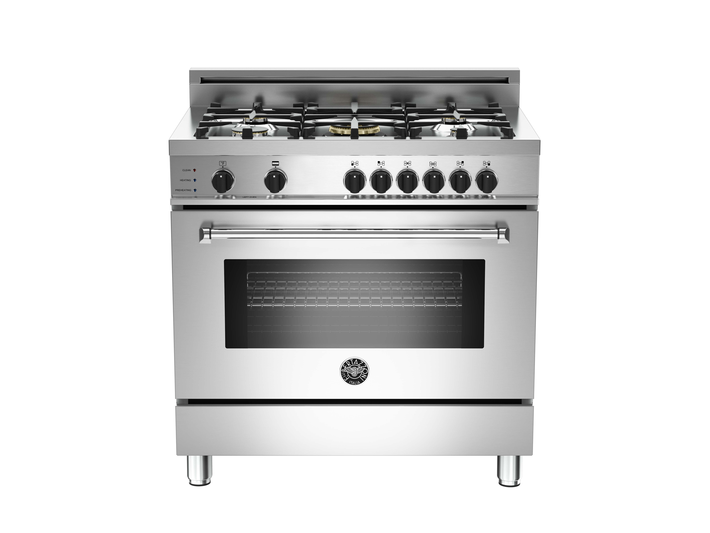 36 5-Burner, Electric Self-Clean Oven | Bertazzoni - Stainless
