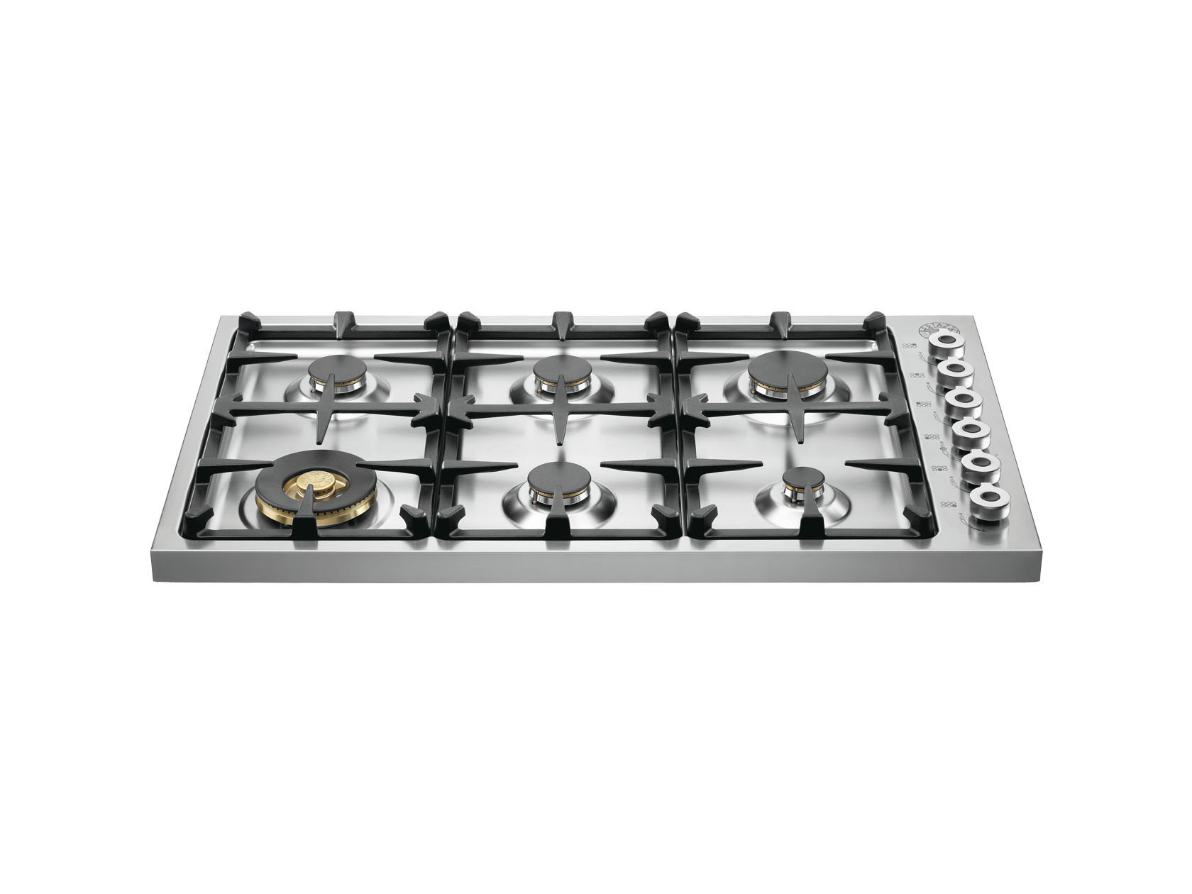 36 Drop-in Cooktop 6-burner | Bertazzoni - Stainless