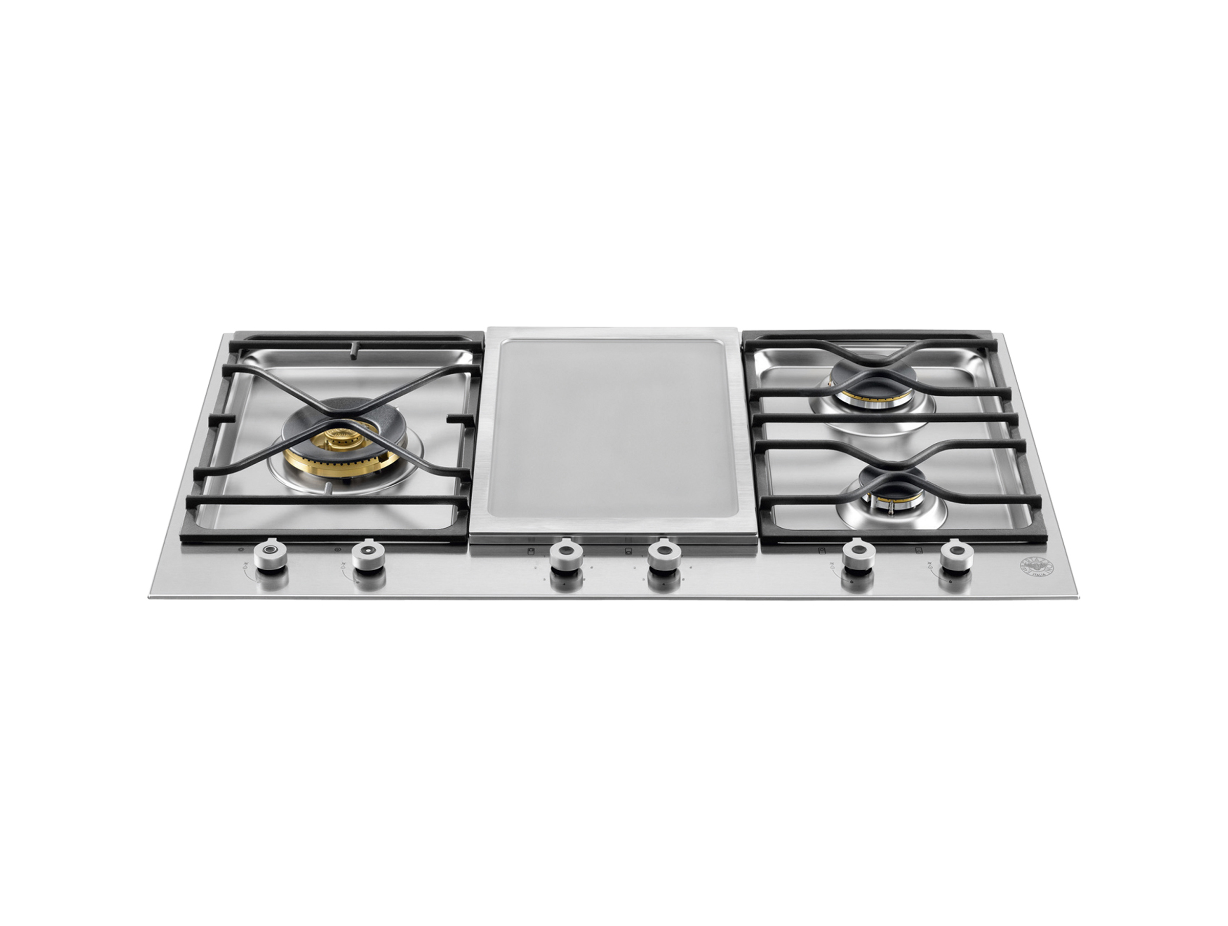 36 Segmented cooktop 3-burner and griddle | Bertazzoni - Stainless