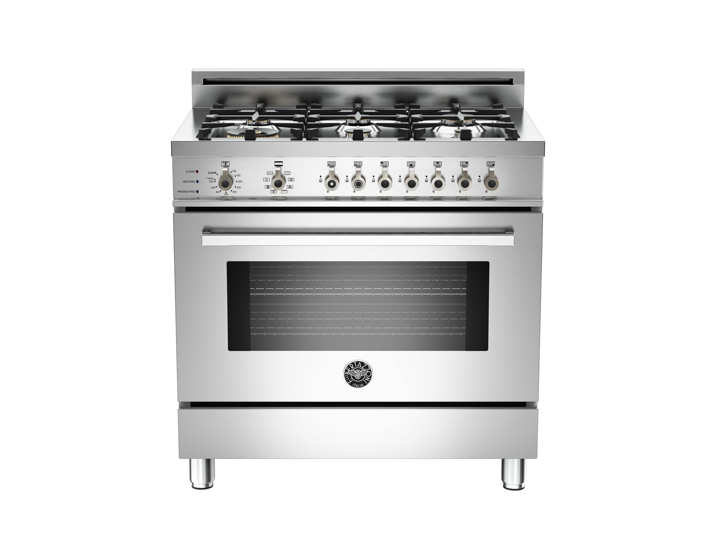 36 6-Burner, Electric Self-Clean Oven | Bertazzoni - Stainless